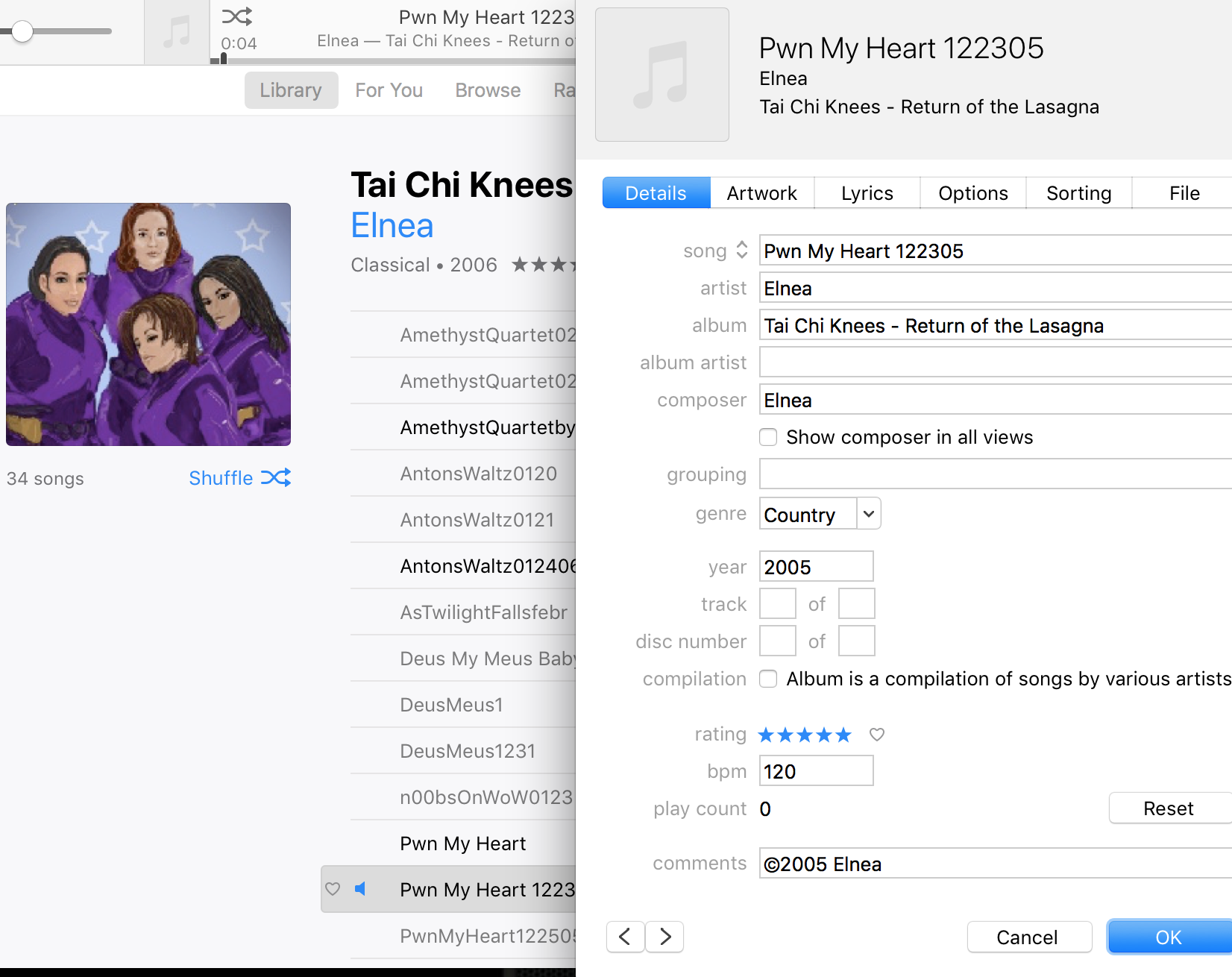 I find it entertaining that at the time I gave this song five stars… also that I put a copyright symbol on it.  Aw… to be young and foolish…
