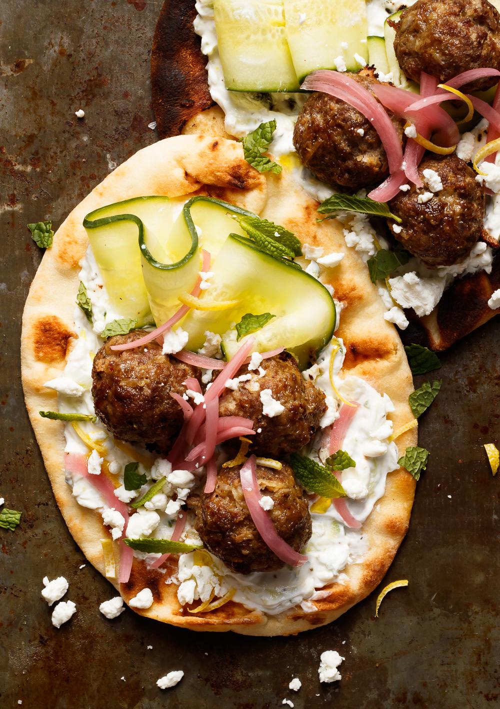 Greek Inspired Meatball Flatbread (1 of 1).jpg