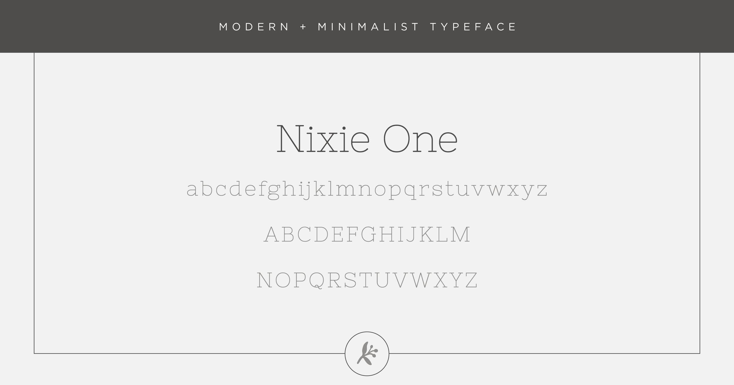 Modern minimalist typeface