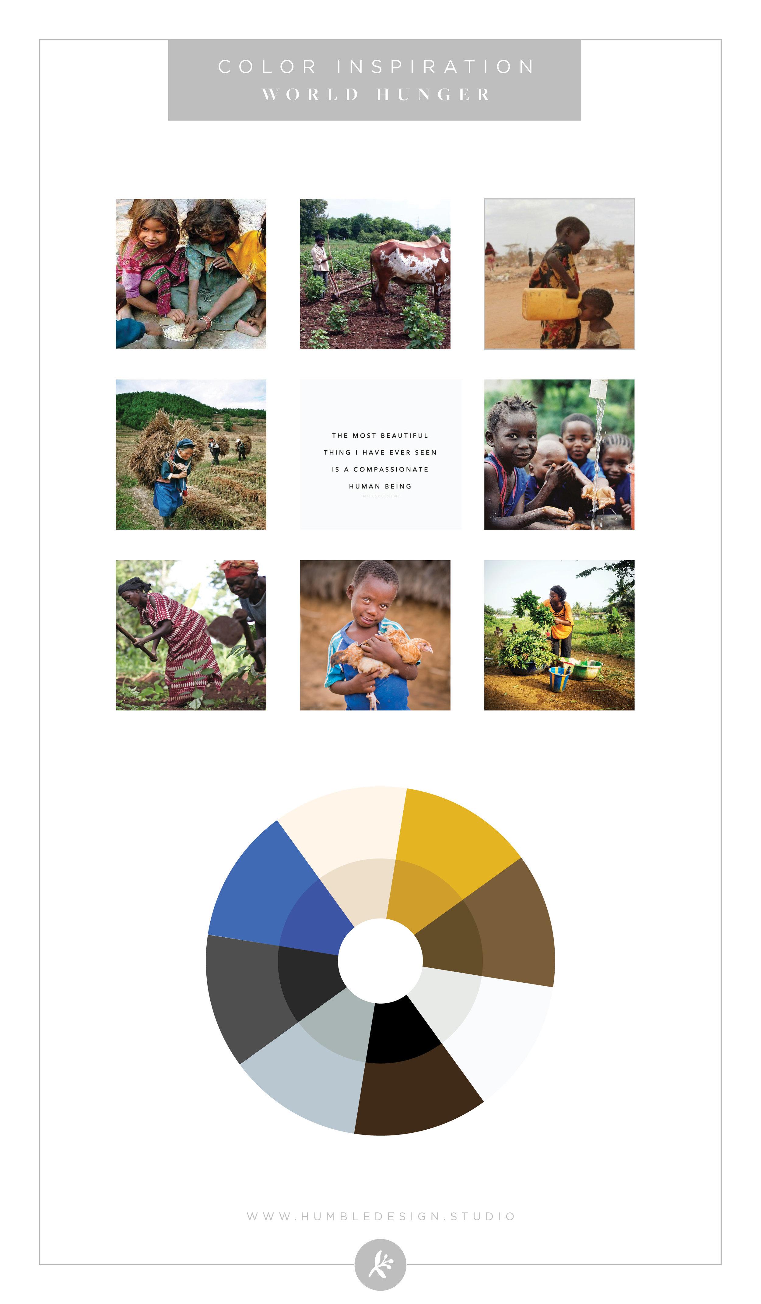 World Hunger Organization Color Palette Inspiration