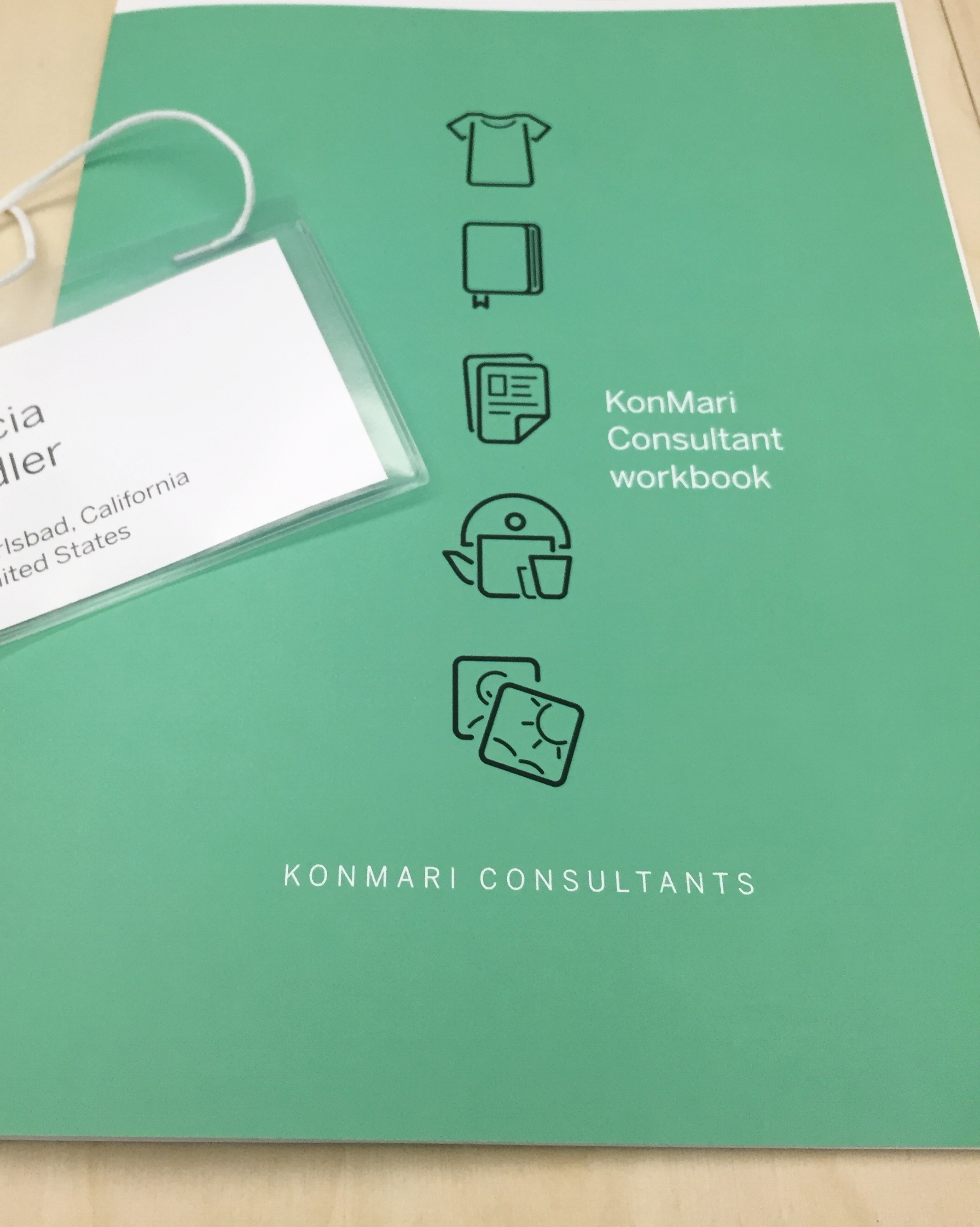 "As a graduate of the KonMari Consultant Certification training seminar, we join a network of ""tidying"" consultants that continues to grow to help clients move to a clutter free life. This community shares skills to improve our level of service to clients."