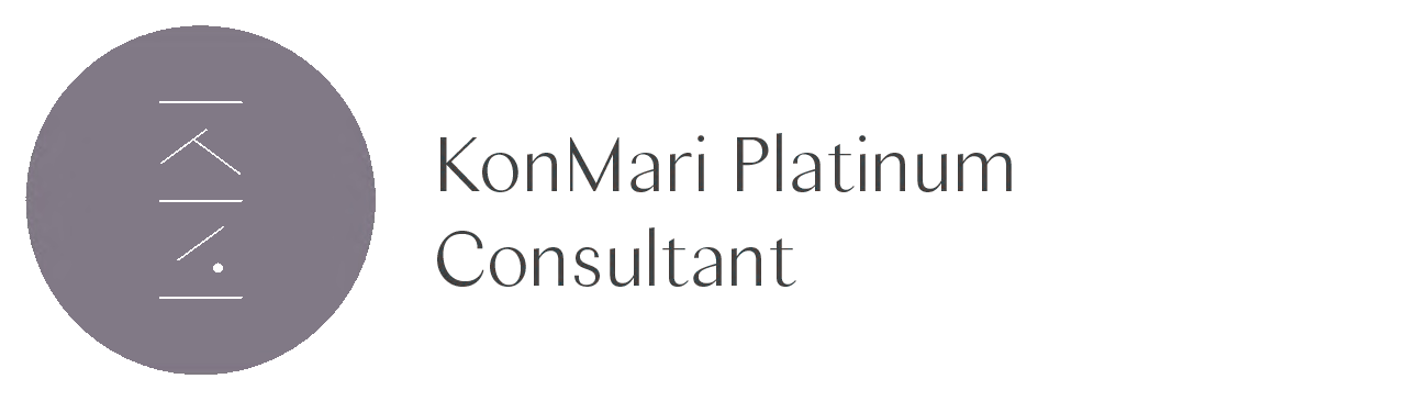 """""""With over 1000 tidying sessions completed, serving clients who are experiencing varied life transitions, it is so gratifying to reach Platinum Level KonMari Certified.""""  —Tricia Fidler, Heywood Park Collective. March 2019."""