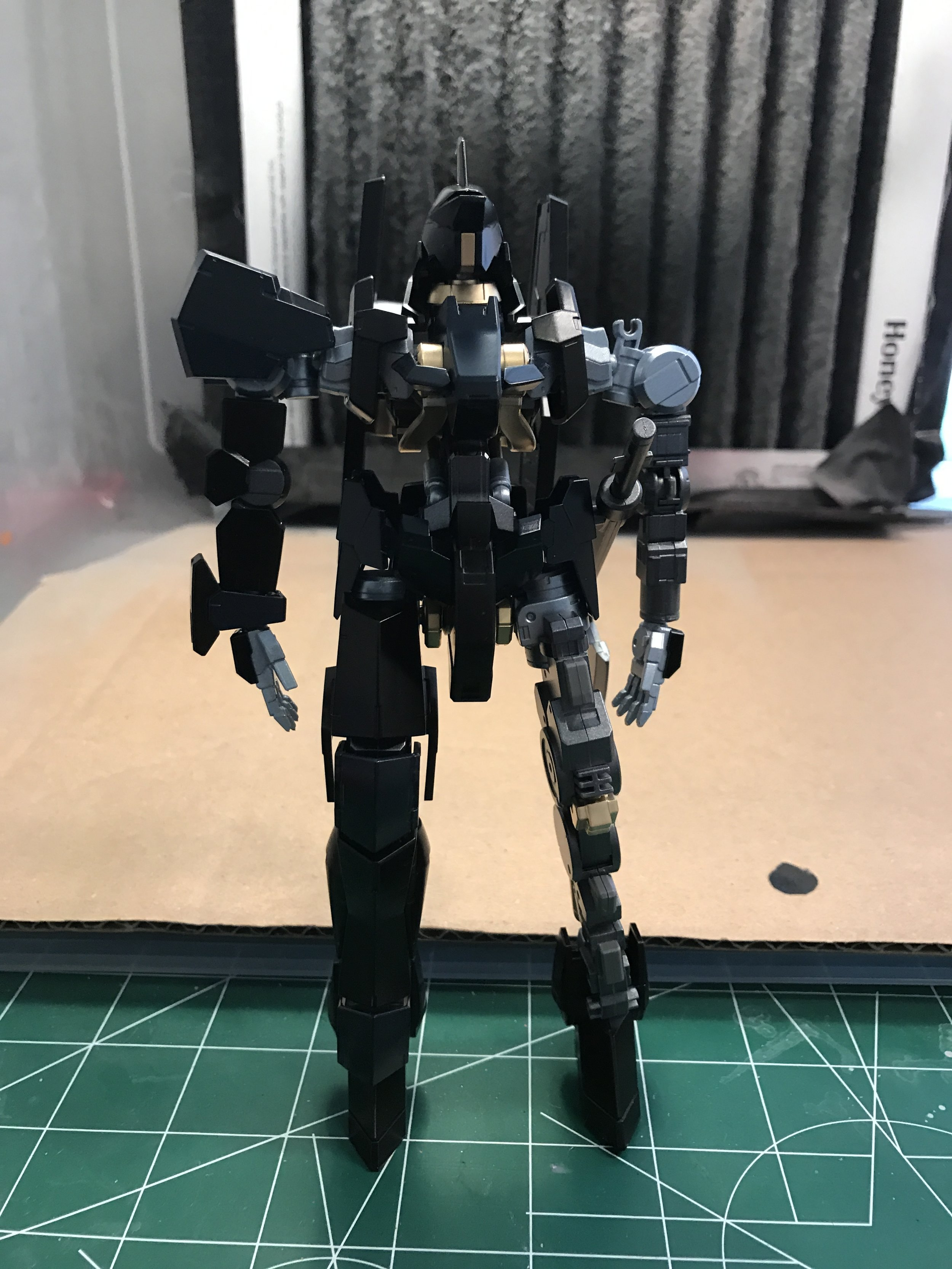 Armor is on the right side only; for test fitting and to see the color scheme.