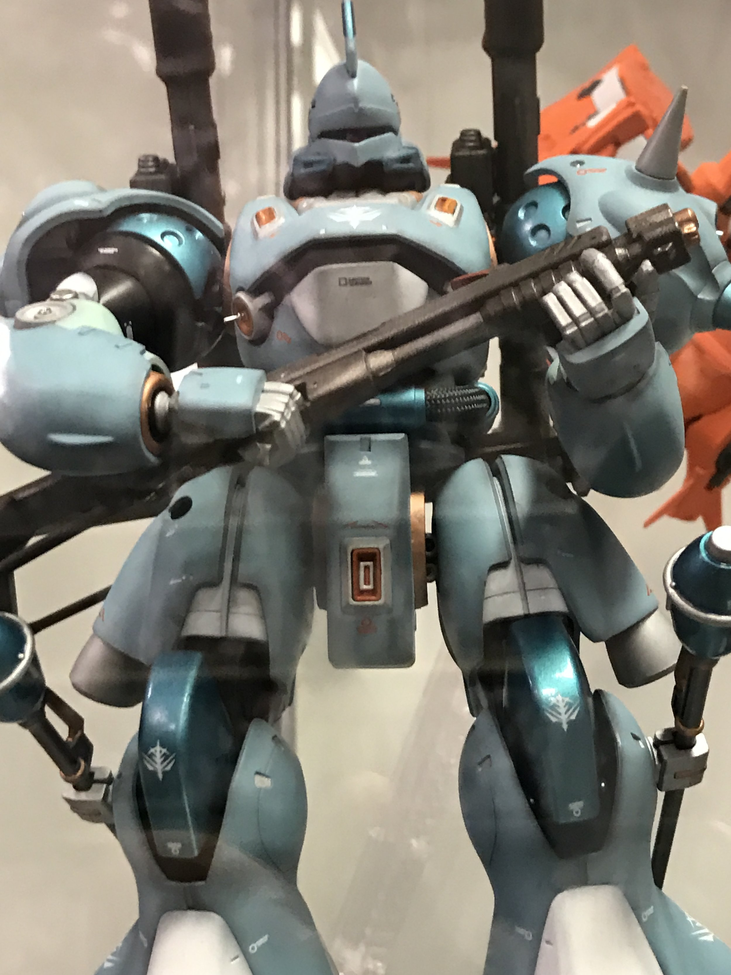 Bonus! This is a kit that was recently added to the display case at Hobbytown Lewisville. It was built by Hai, a member of the Texas Gundam Club. He also did Graze's Edge.