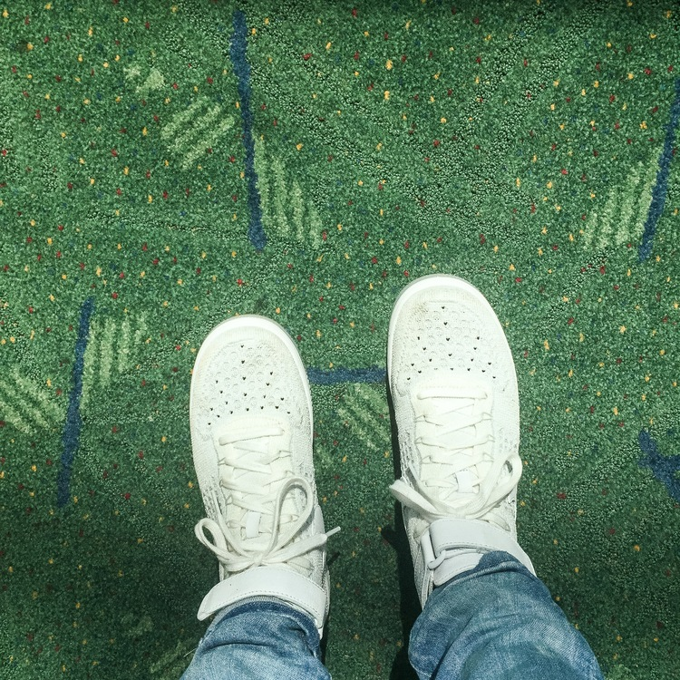 The only carpet in the world that has a cult following. Keep it weird, Portland.  1.  A Brief History of the PDX Airport Carpet   2. How Portland Airport Became a Hipster Icon   3.  Portlanders Struggle to Say Goodbye to Airport Carpet   4.  Portland's Messy Breakup with its Airport Carpet   5.  You can buy some if you're so inclined.