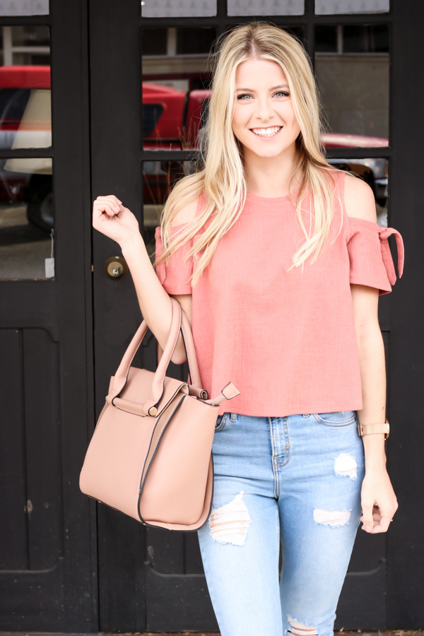 Pink Cold Shoulder Madewell Top-2.jpg