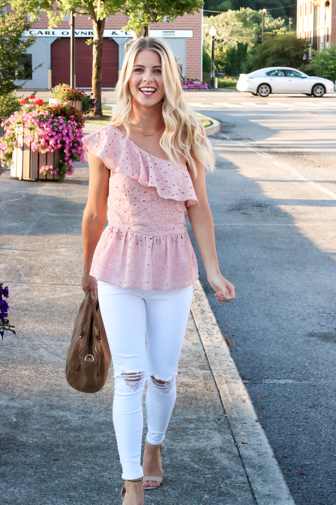 Blush Pink Eylet One Shoulder Top-4.jpg
