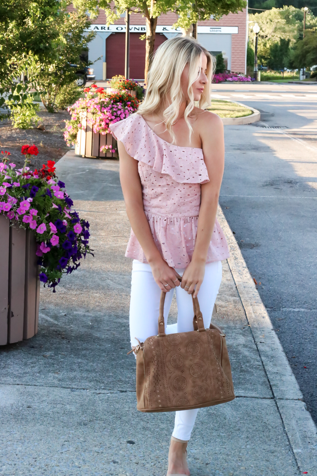 Blush Pink Eylet One Shoulder Top-5.jpg