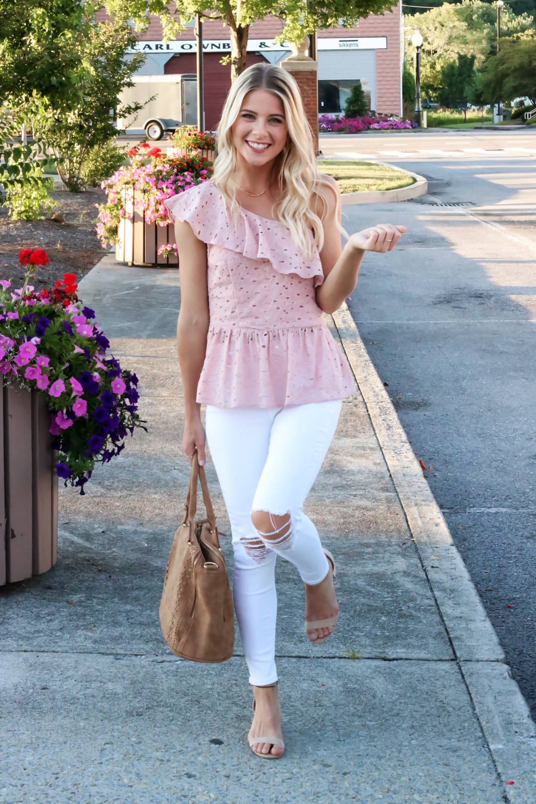 Blush Pink Eylet One Shoulder Top-6.jpg