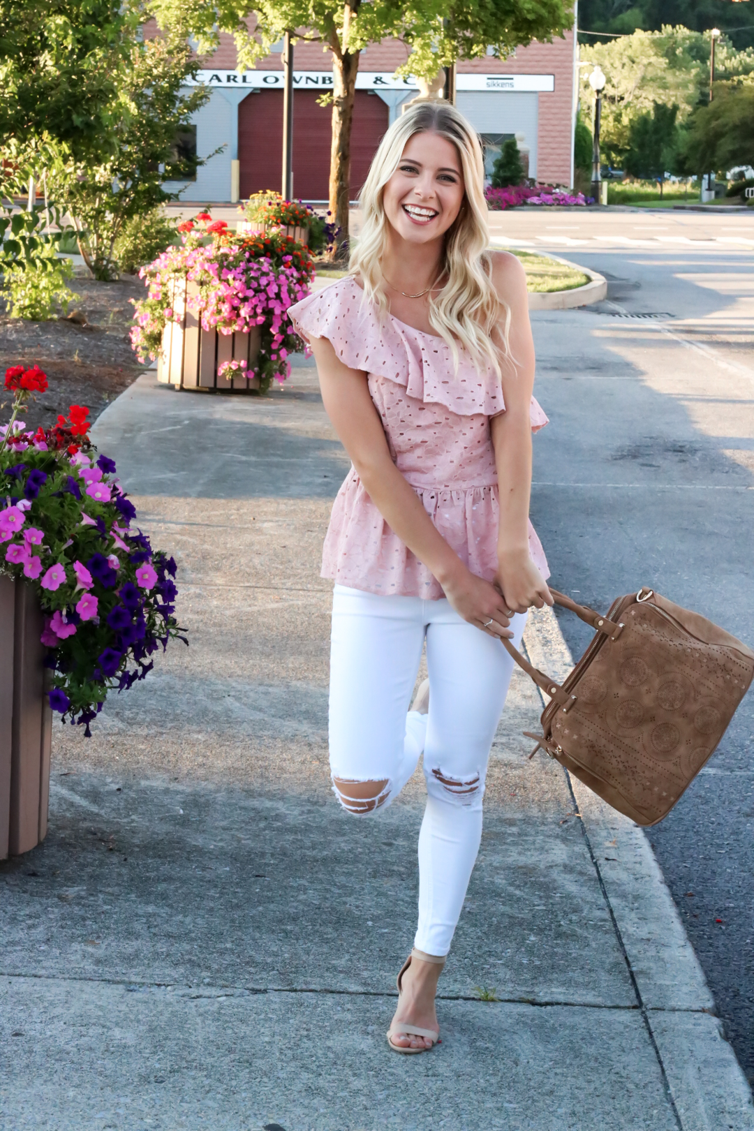 Blush Pink Eylet One Shoulder Top-7.jpg