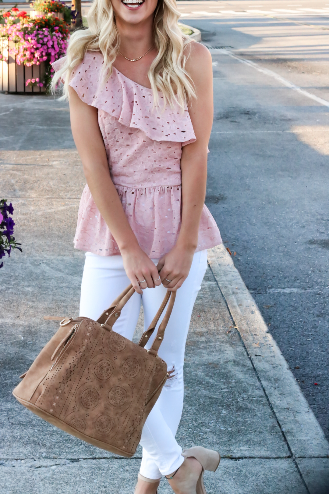 Blush Pink Eylet One Shoulder Top-9.jpg