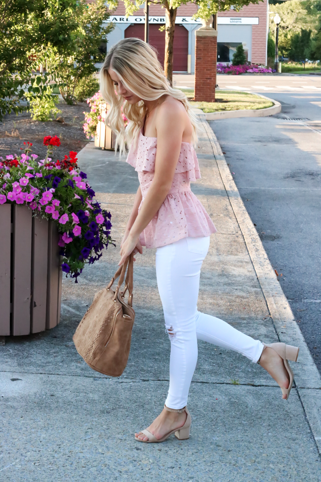 Blush Pink Eylet One Shoulder Top-8.jpg