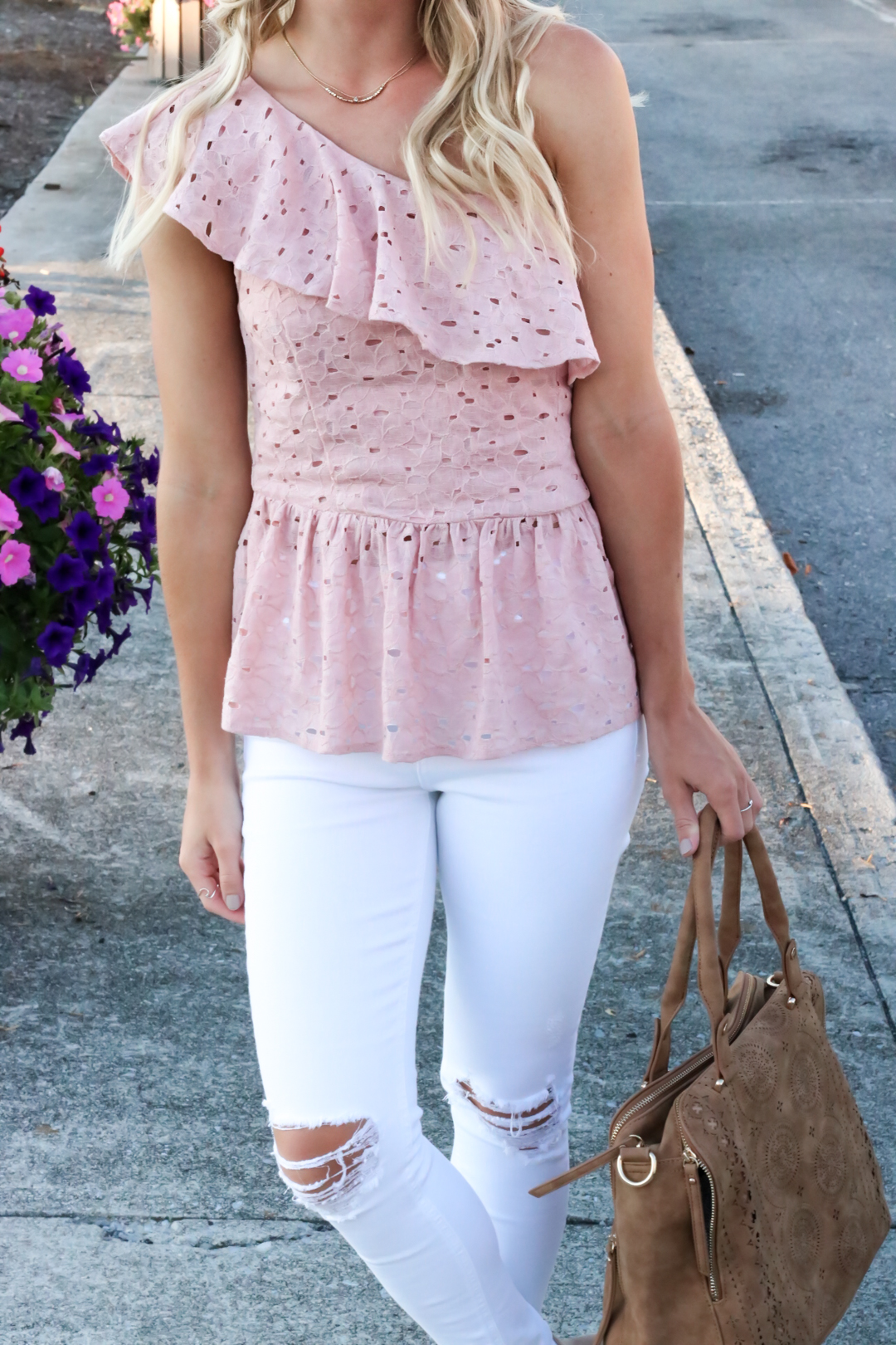 Blush Pink Eylet One Shoulder Top-12.jpg
