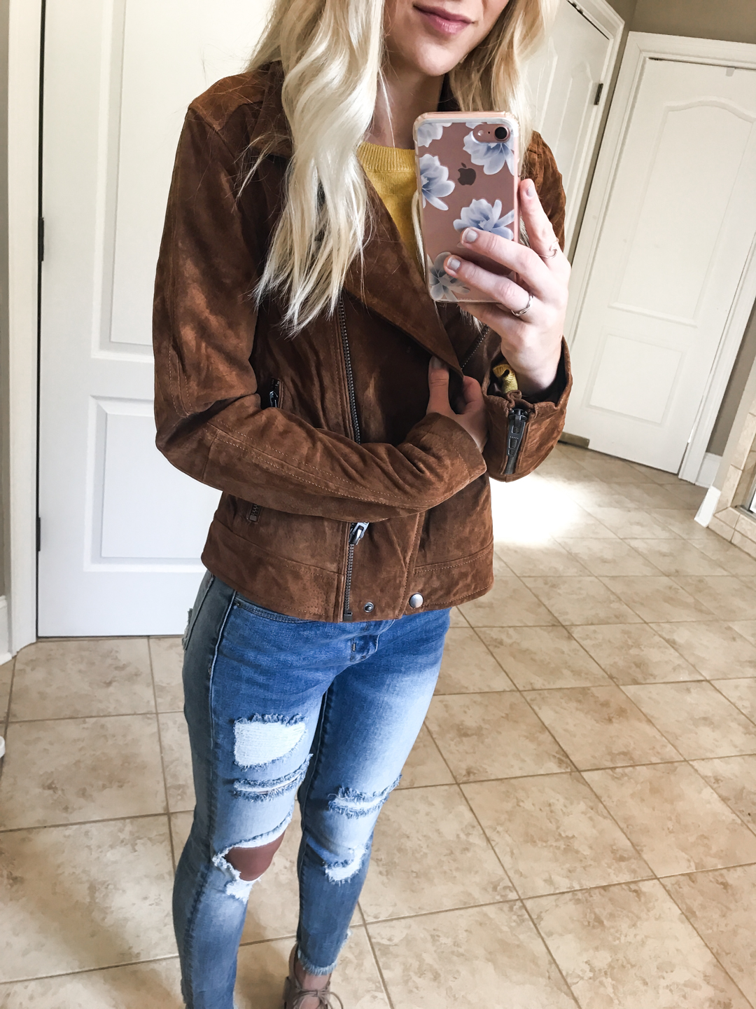Suede Moto Jacket - Small