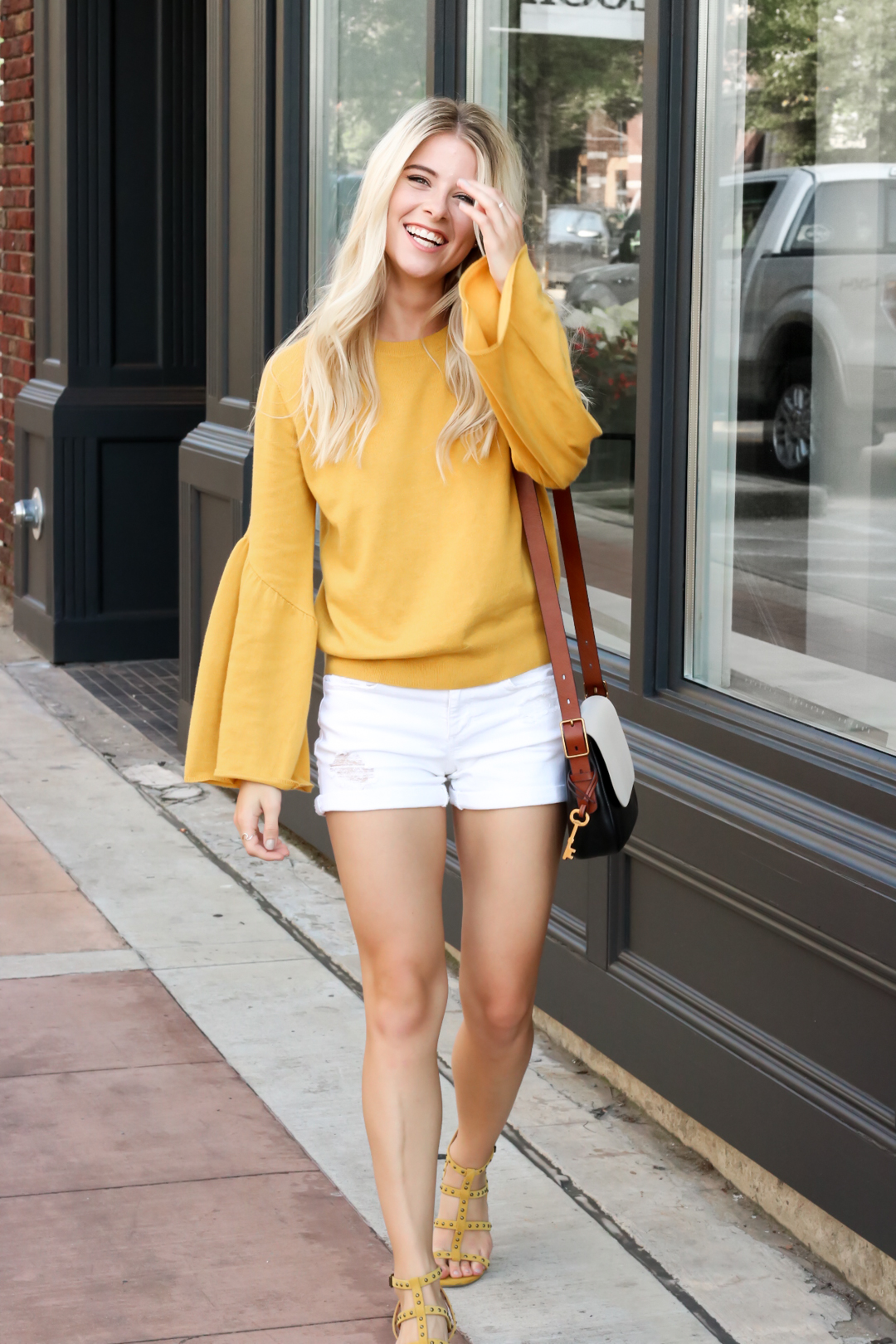 Nordstrom Leith Yellow Bell Sleeve Sweater_-2.jpg