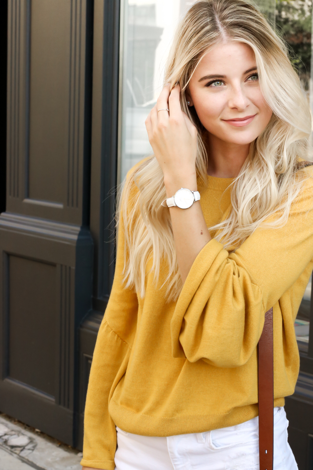 Nordstrom Leith Yellow Bell Sleeve Sweater_-4.jpg