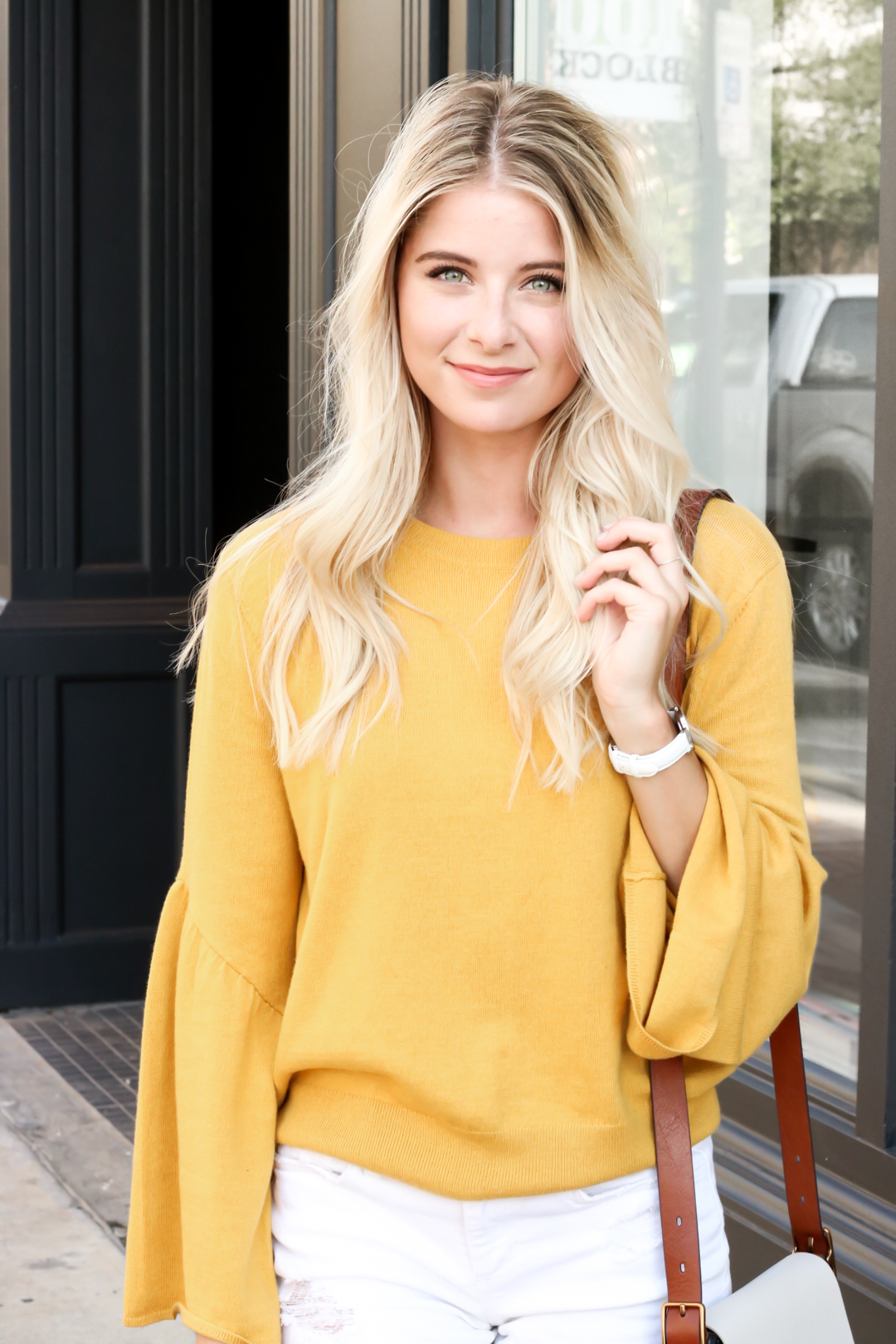 Nordstrom Leith Yellow Bell Sleeve Sweater_-7.jpg