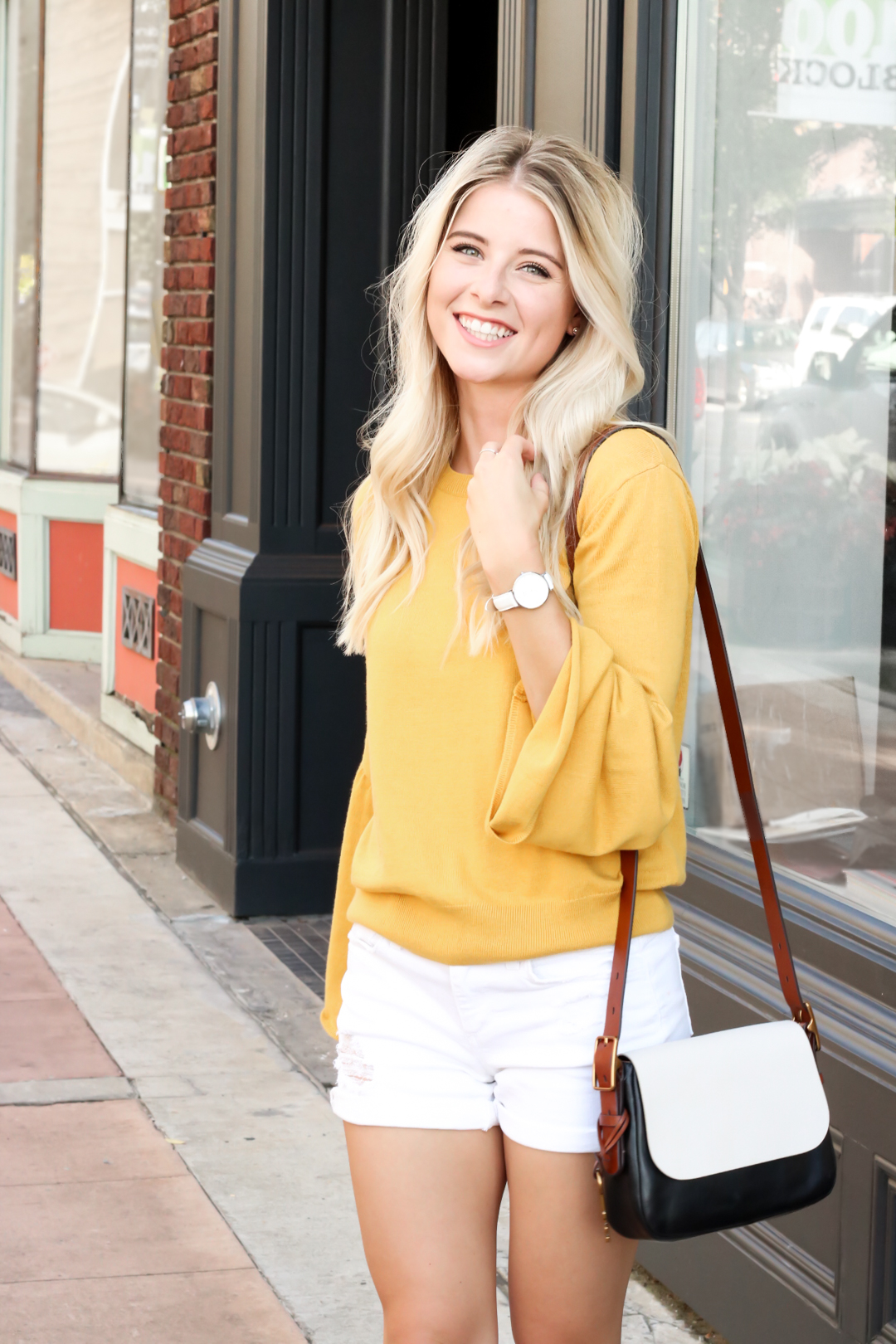 Nordstrom Leith Yellow Bell Sleeve Sweater_-8.jpg