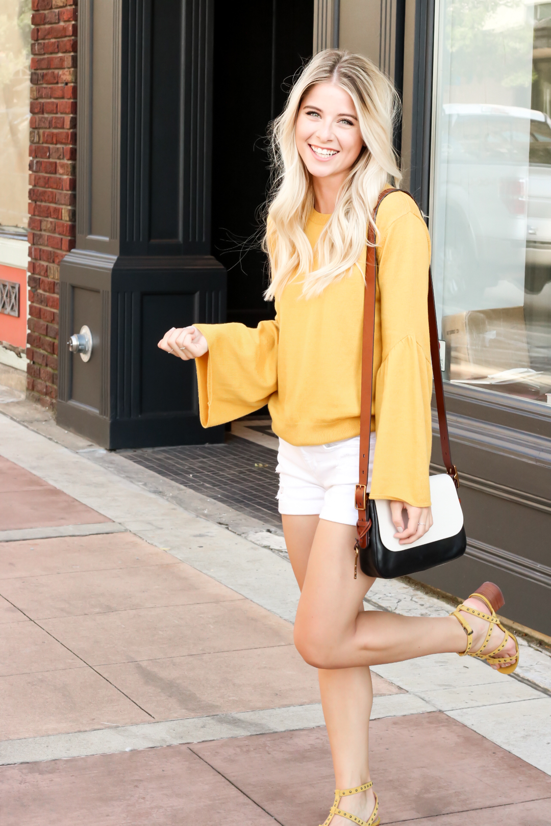 Nordstrom Leith Yellow Bell Sleeve Sweater_-13.jpg