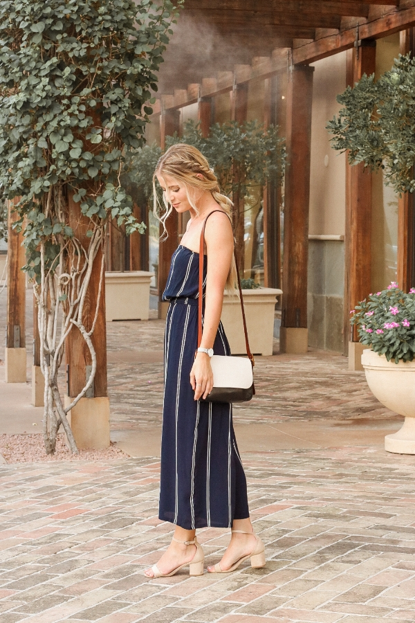 Urban Outfitters Striped Navy Blue Jumper-4.jpg