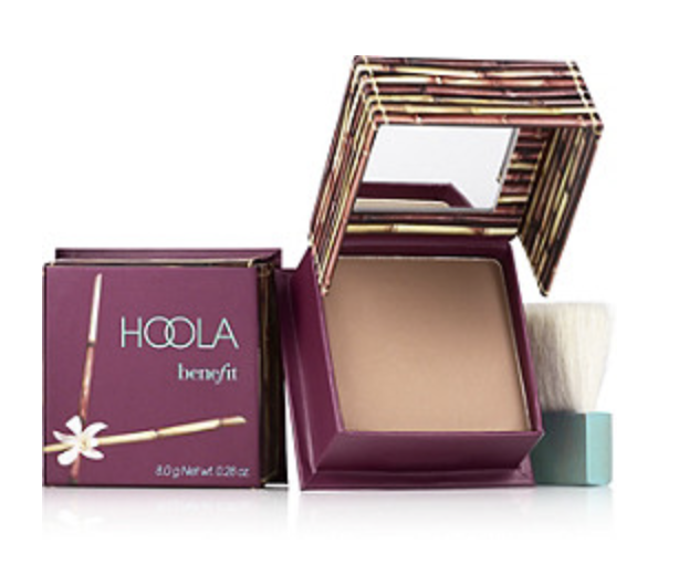 Benefit Hoola Bronzer - My go-to everyday bronzer. Gives the perfect tan look that's not too orange and doesn't have a shimmer. Lasts forever too!