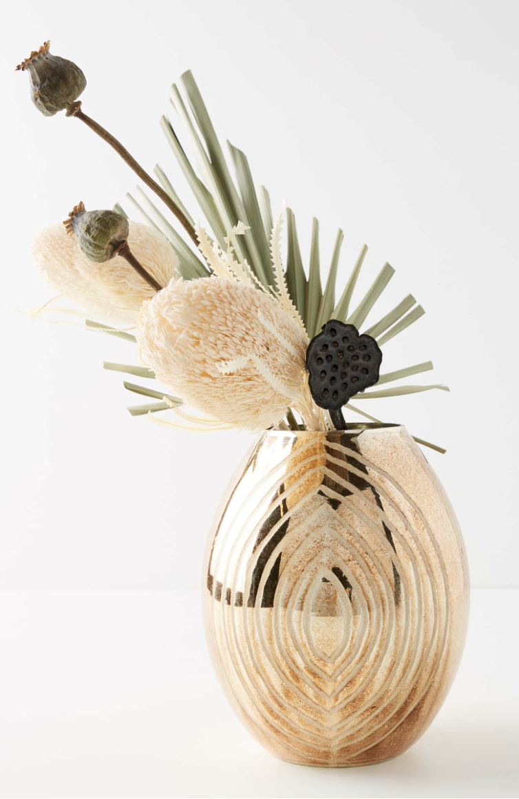 Anthropologie Small Mercury Vase - This would be the perfect gift for your mother, a host, daughter, or your best friend!