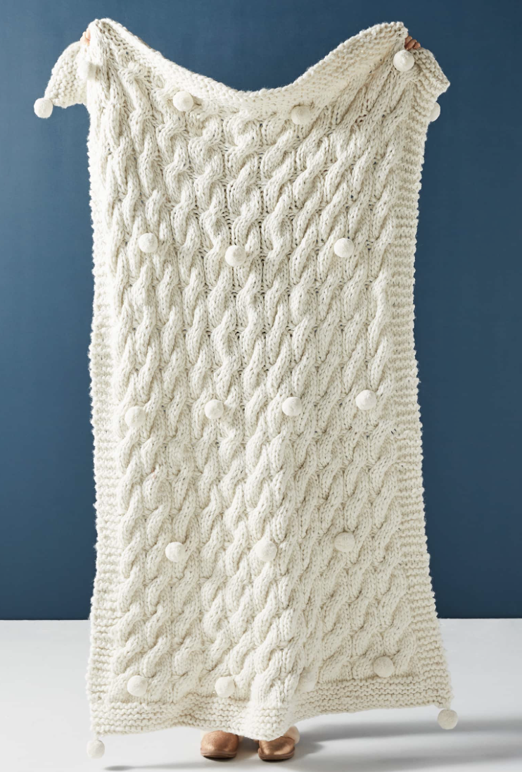 Anthropologie Throw Blanket - Who wouldn't want to receive a big cozy blanket? One can never have enough blankets in my opinion. 🙌🏻