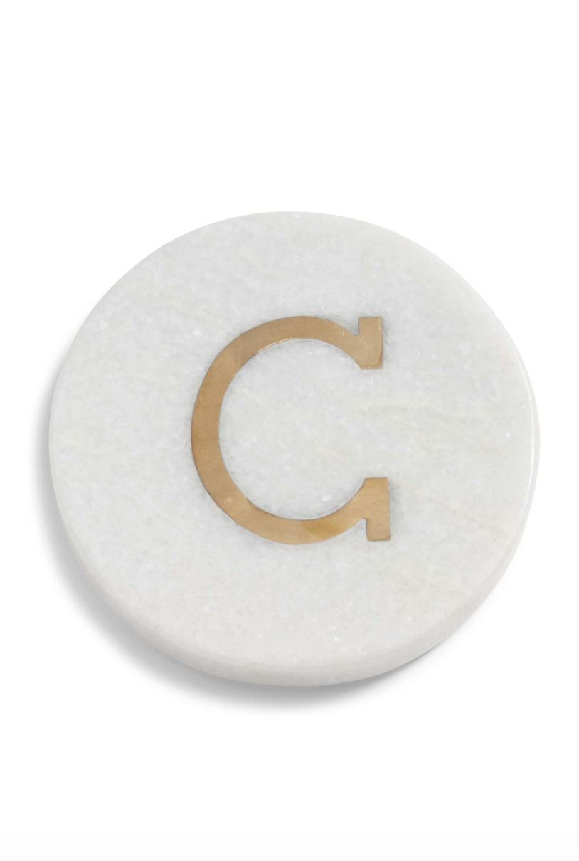Monogram Coaster - Personalized gifts are always so thoughtful. I love these coasters and they would be perfect for just about anyone!