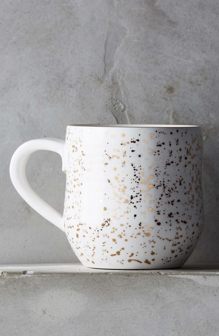 Anthropologie Speckled Mug - Know someone who loves coffee a latte? (pun intended 😏) This would be perfect for them! I have this mug myself and love it.