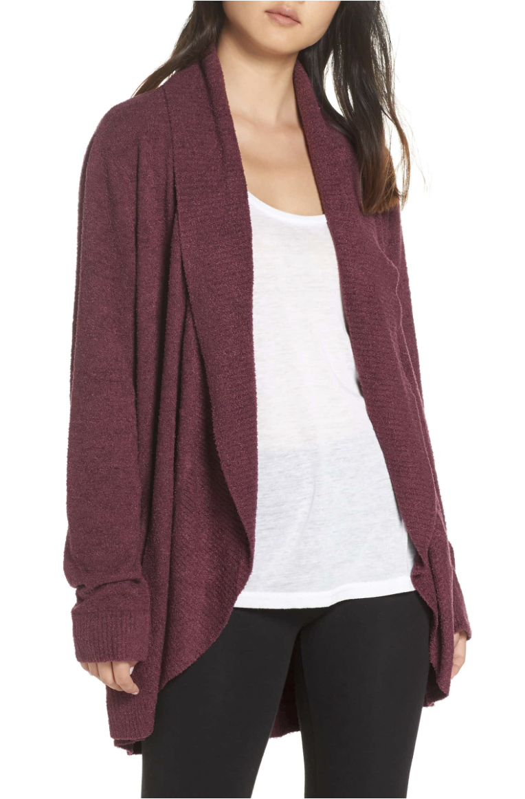 Barefoot Dreams Cardigan - Barefoot Dreams is known for their incredibly soft material and their cardigans are incredible. Moms, Sisters, Grandmothers, or any other gal would be ecstatic to receive one of these!