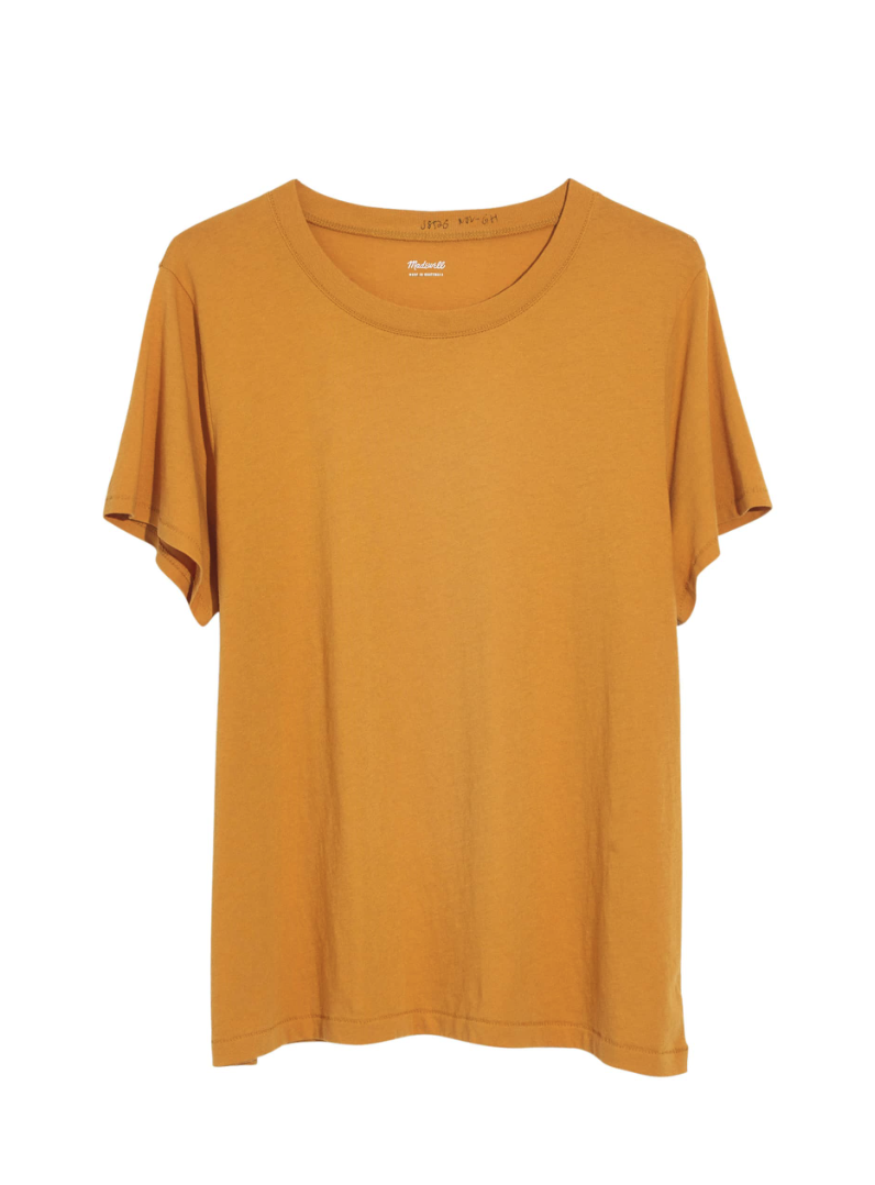 Madewell Tee - I own this tee in a couple colors and absolutely love the fit. Plus it's $14.50!