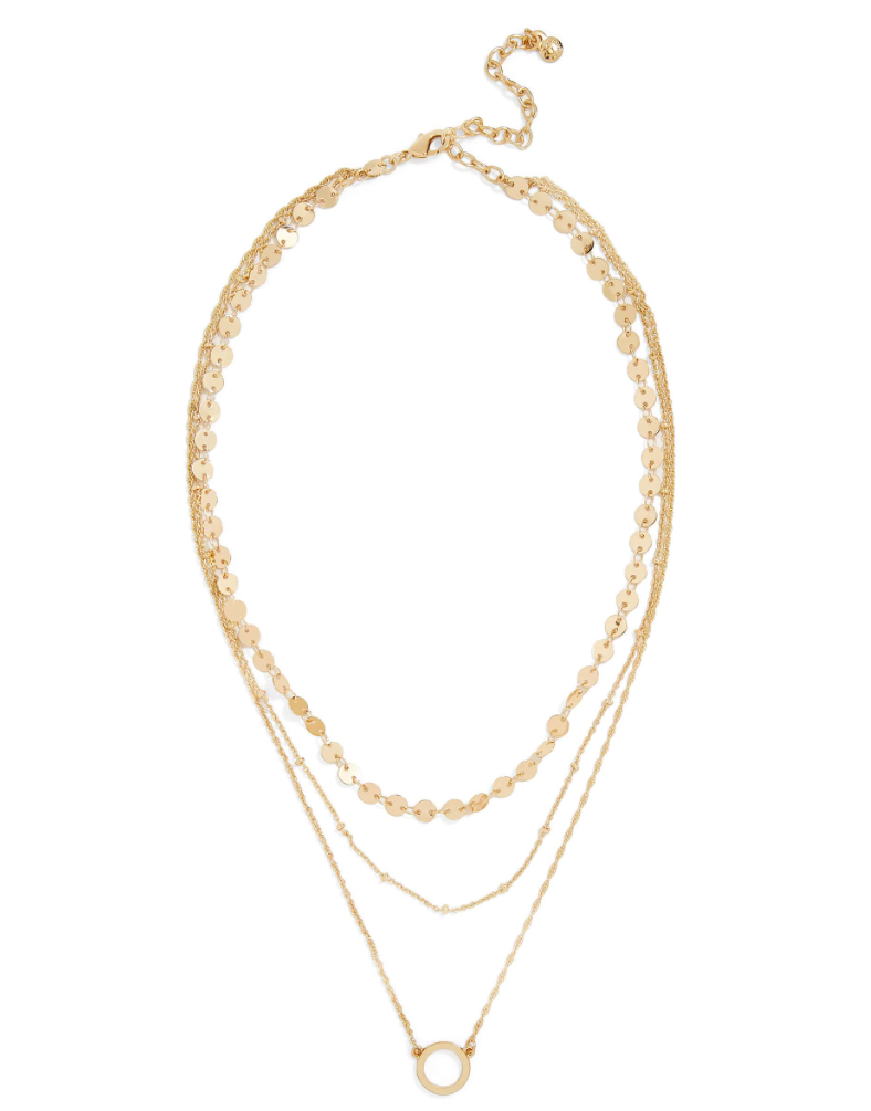 BaubleBar Layered Necklace - Layered necklaces have been really popular this year. This would be perfect any girl that loves jewelry and trendy pieces!