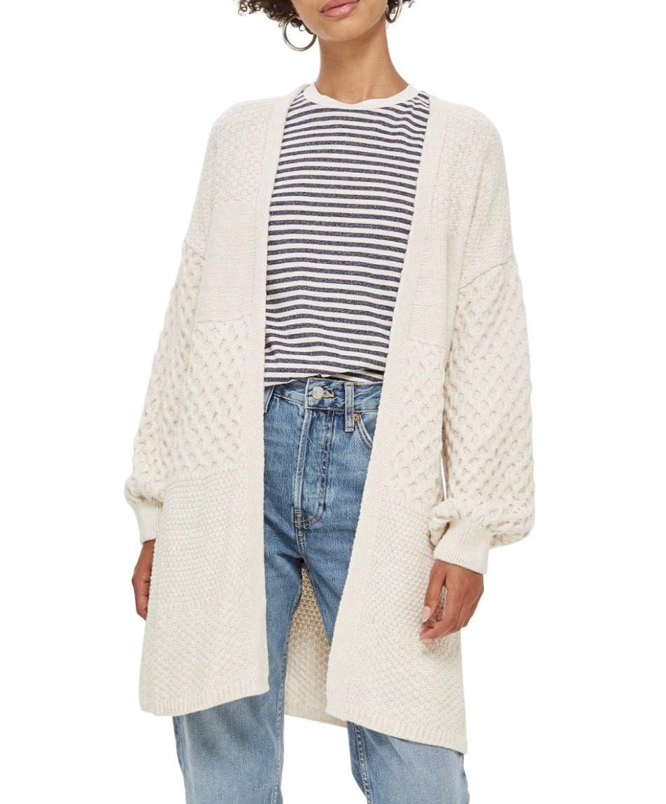 Topshop Honeycomb Cardigan - How cute is this?! Plus its 50% off making it under $40!