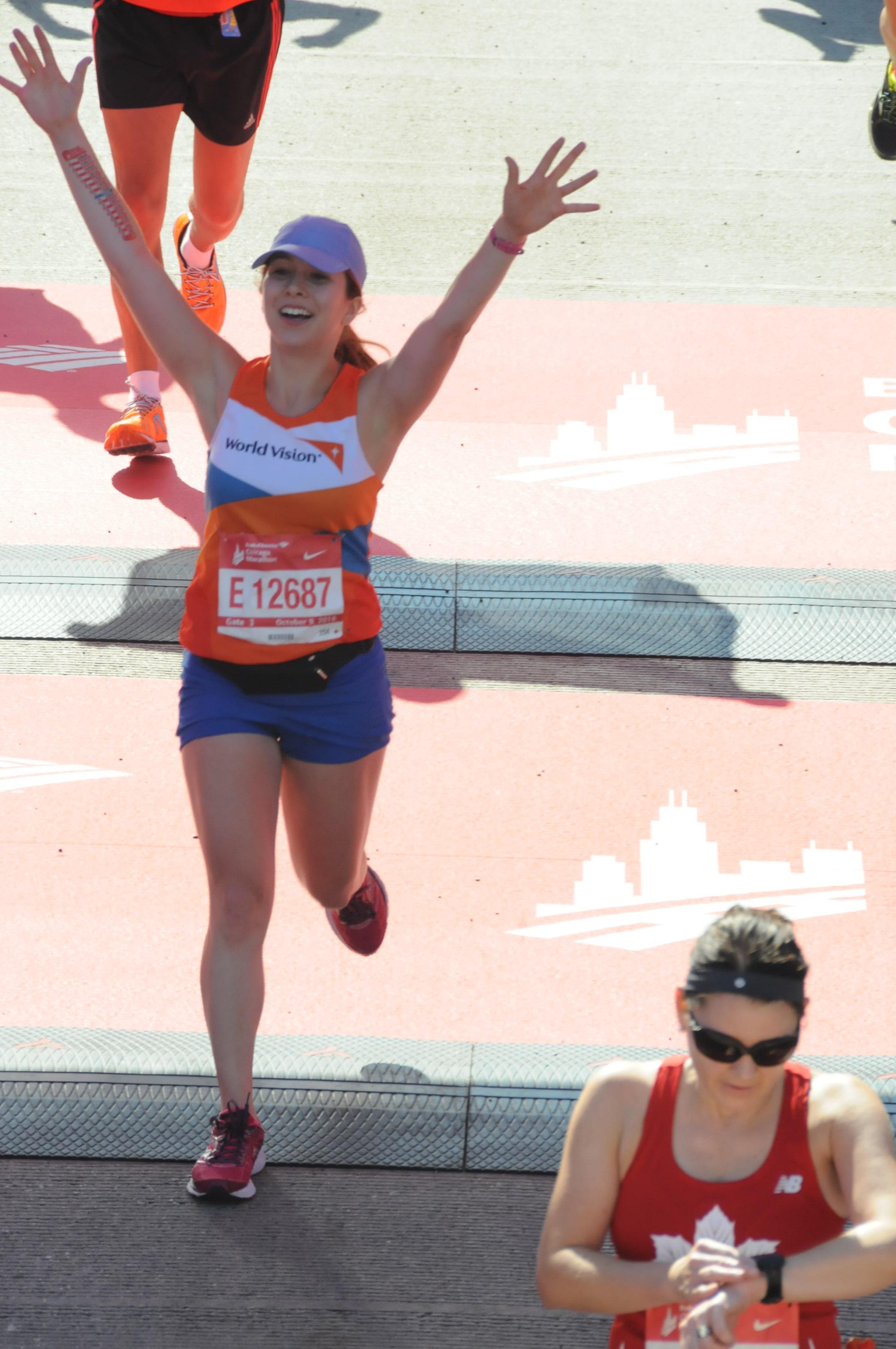 Finish line of The 2016 Chicago Marathon