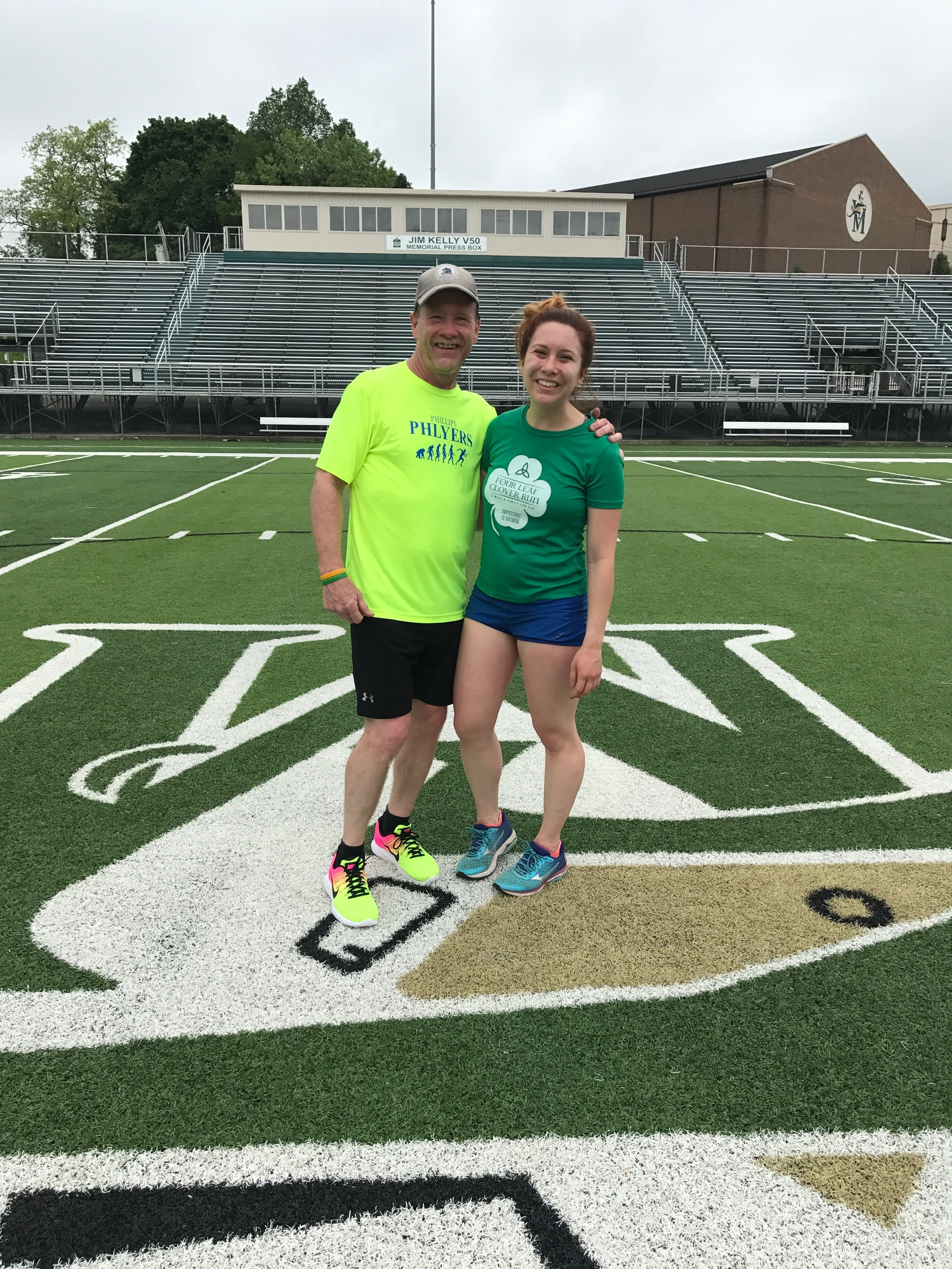 Akron run with Dad- The Four Leaf Clover Course