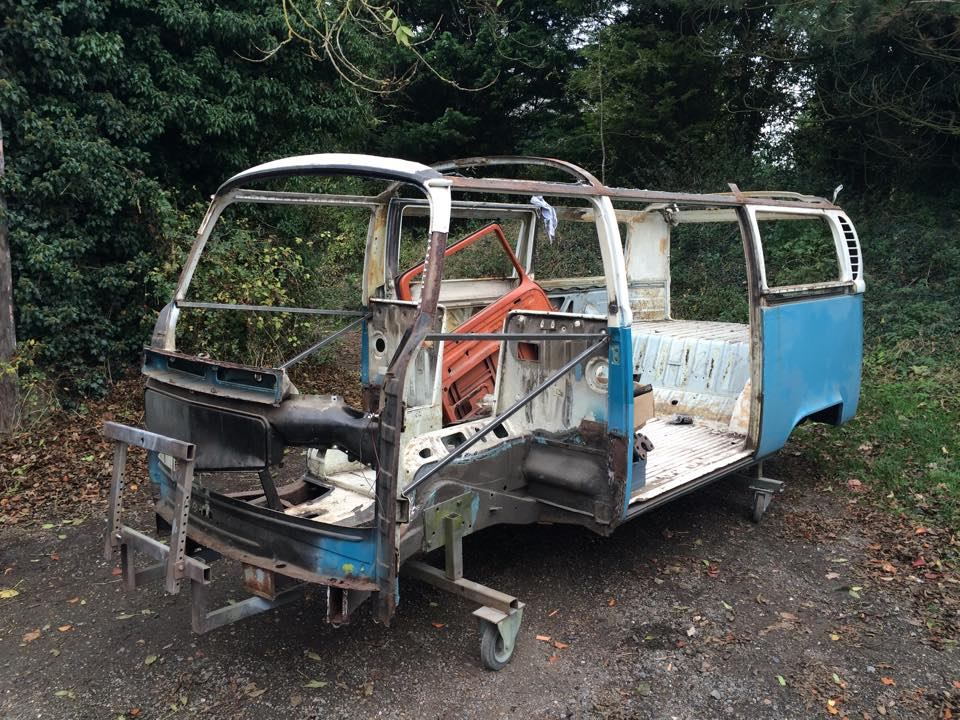 1971 VW Transporter stripped and body panels removed