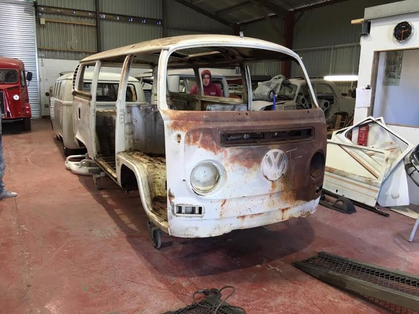 1970 VW Bay Window Stripped to a Shell