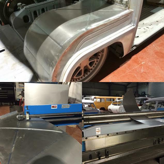 VW T2 wheel tub fabrication