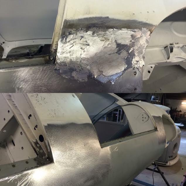 Jaguar E Type sill replacement plus lead laoding