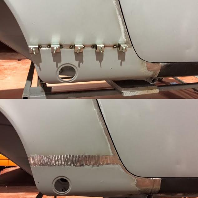 Porsche 911 lower rear wing replacement