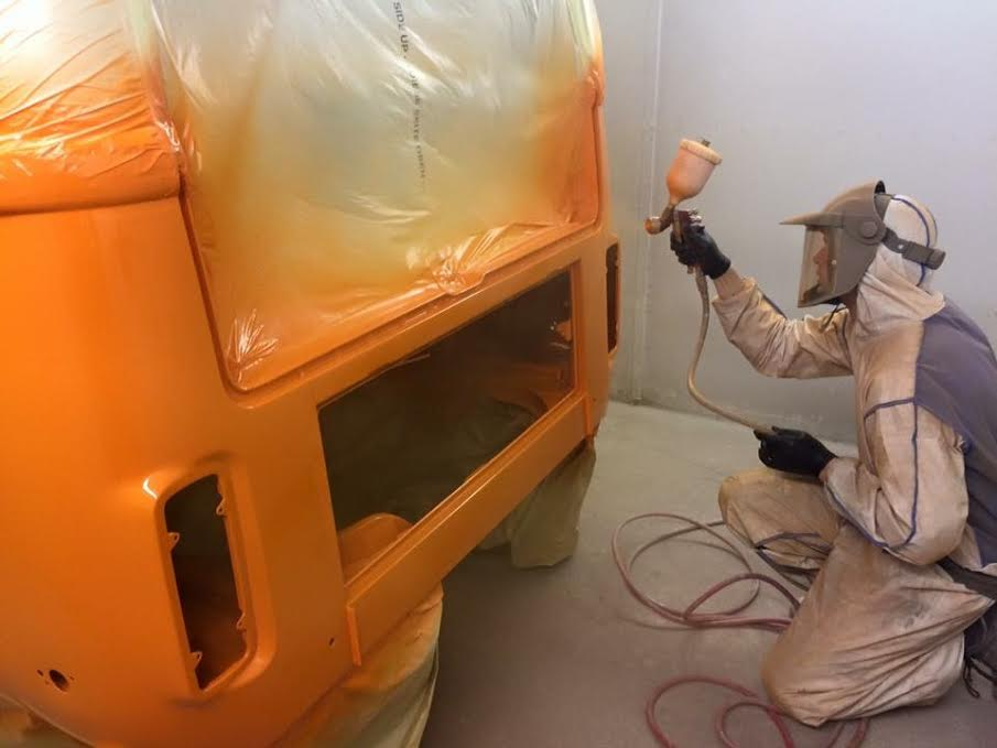 VW T2 being painted
