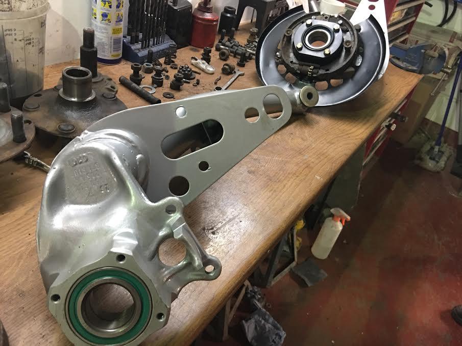 Refurbished Porsche suspension