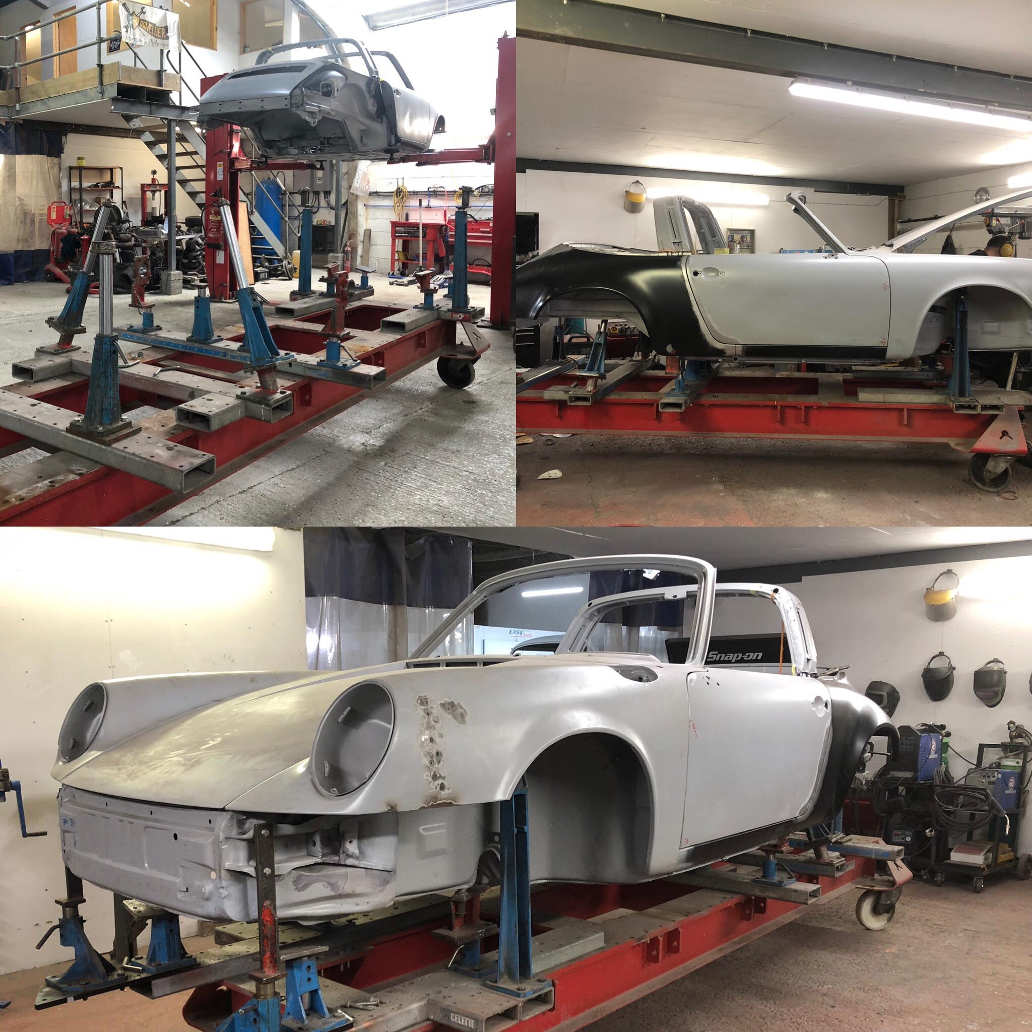Celette Jig set up for Porsche 911 Targa
