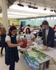Students enjoy shopping at the Gingerbread Shoppe