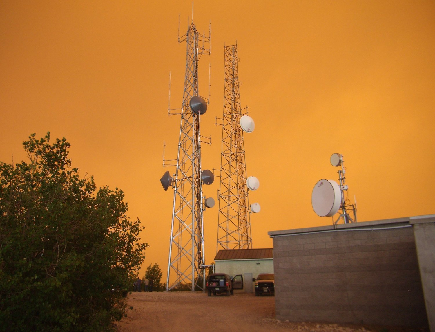 Forest Fire Behind Towers in Southern Colorado