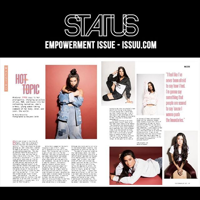 Hot Topic: @officialsymon featured in the Empowerment Issue of @statusmagazinechi  #losangeles #statusmagazine #slay #queen #symonsays #article #empowerment