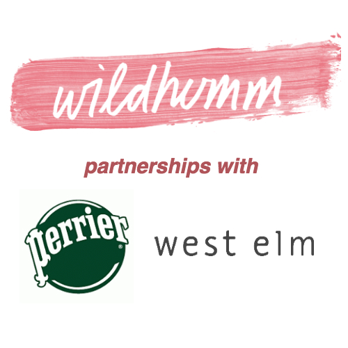 Perrier, West Elm x WildHumm    Click here  to learn more about my work with Perrier and West Elm.    Goals:  to create original artwork and social content for  Perrier's   Extraordinary Perrier  campaign.   To create an in-store mural and wall installation for  West Elm .