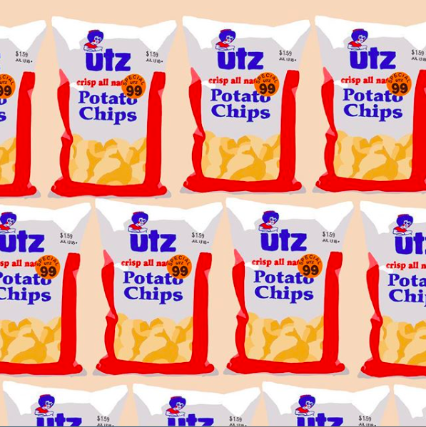 UTZ snacks - Custom social assets illustrated for Utz.