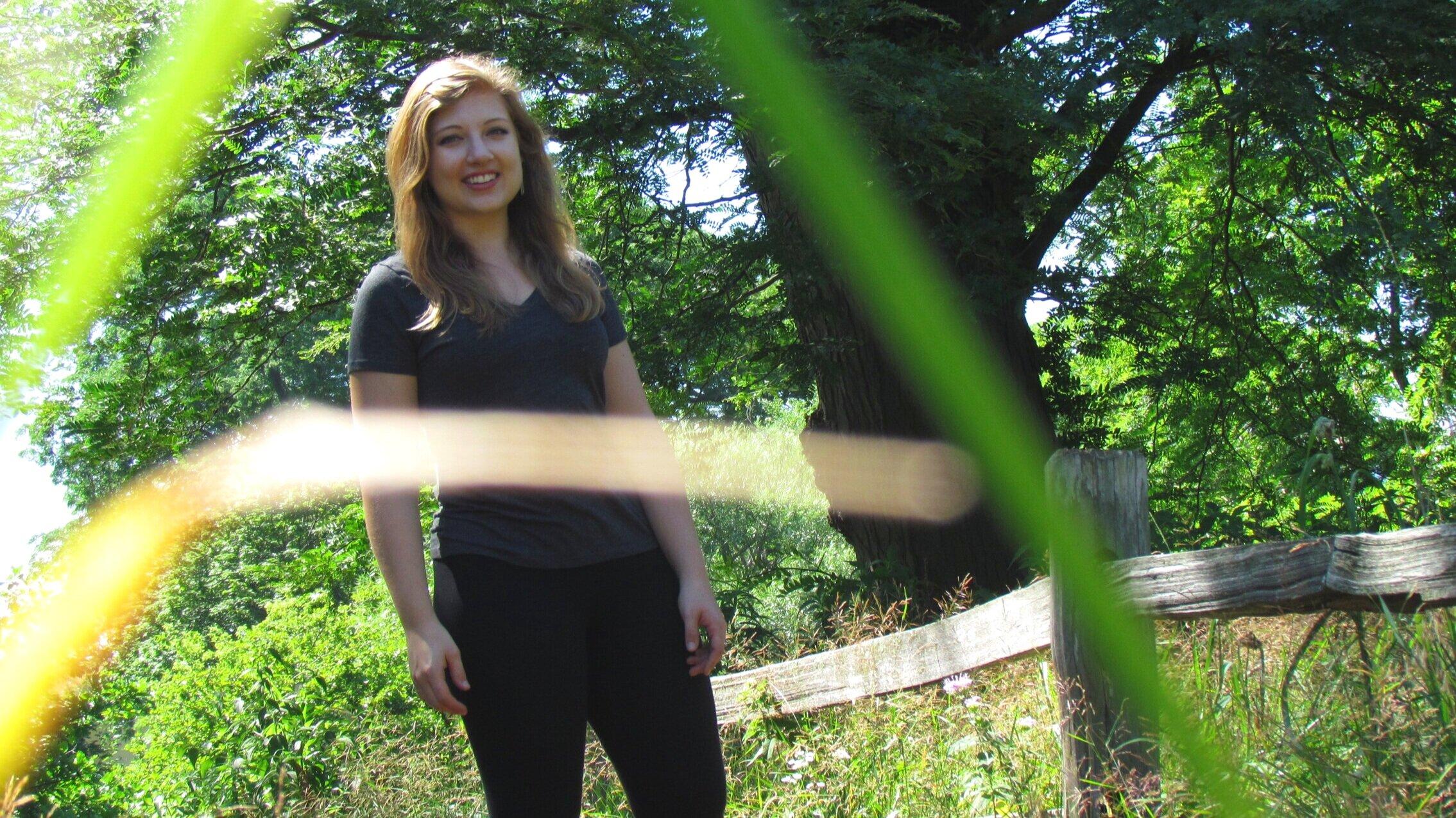 Shelby-Forsythia-Through-Grass