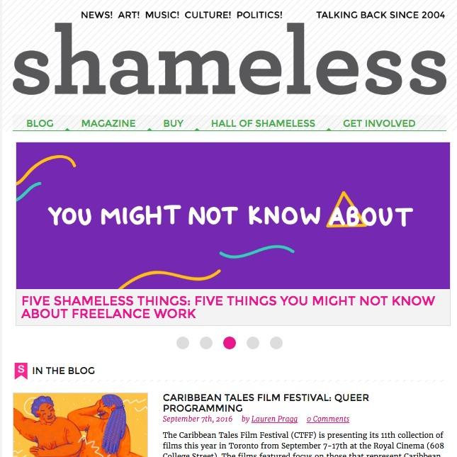 Shameless Magazine September 2013